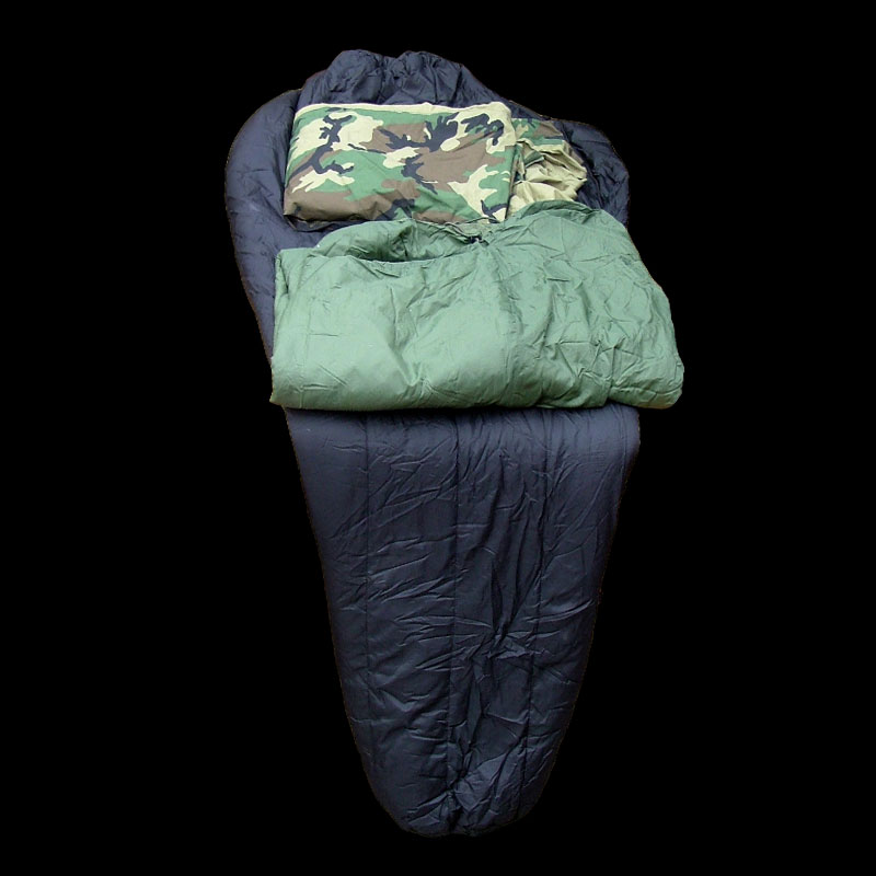 Sleeping Bag Black/Camo